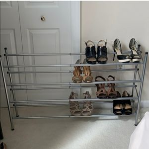 "4 tier expanding shoe rack 24"" - 46"""